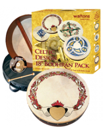"Bodhran 18"" Pack Celtic Design"