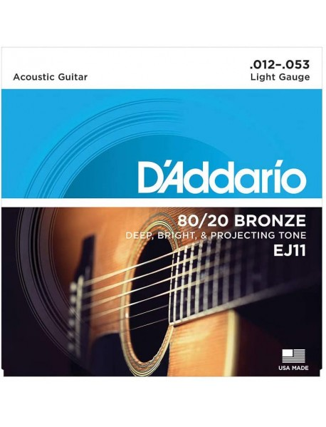 D'Addario EJ 11 80/20 Bronze Acoustic 12's Light