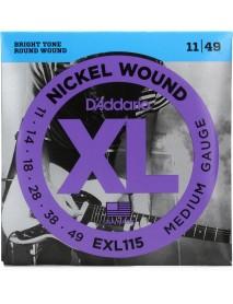 D'addario EXL115 Electric guitar strings