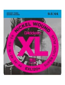 D'addario EXL120+ 9.5 Gauge electric guitar strings