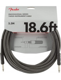 Fender professional series tweed instrument cable 18.6ft gray