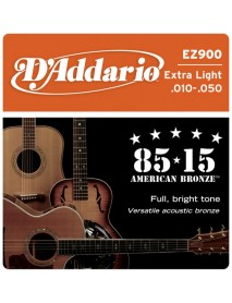 D'Addario 85/15 American Bronze Acoustic 10's Extra Light