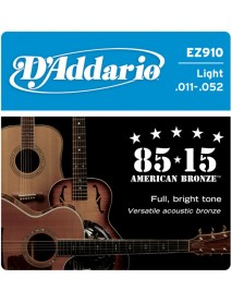 D'Addario 85/15 American Bronze Acoustic 11's Custom Light