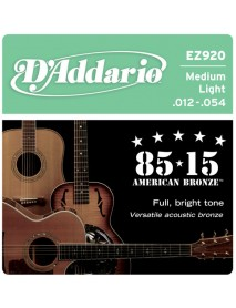 D'Addario 85/15 American Bronze Acoustic 12's Light