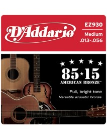 D'Addario 85/15 American Bronze Acoustic 13's Medium