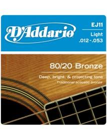 D'Addario 80/20 Bronze Acoustic 12's Light