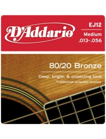 D'Addario 80/20 Bronze Acoustic 13's Medium