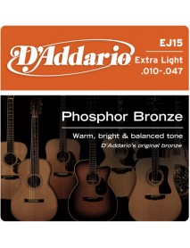 D'Addario Phosphor Bronze 10's Extra Light
