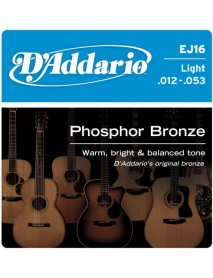 D'Addario Phosphor Bronze Acoustic 12's Light