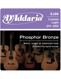 D'Addario Phosphor Bronze Acoustic 11's Custom Light