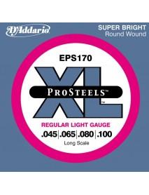 D'Addario EPS 170 Pro Steels Bass 45-100 Regular