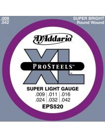 D'Addario EPS520 Pro Steels 9's