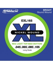Daddario EXL 165 Bass 45-105 Regular Light Top / Medium Bottom