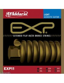 D'Addario EXP Extended Play Coated Bronze Acoustic 12's Light
