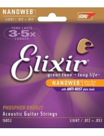 Elixir Nanoweb Phosphor Bronze Long Life Acoustic Strings