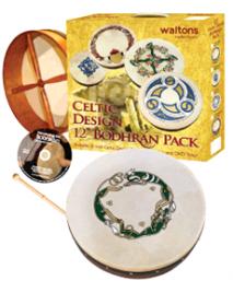 """Bodhran Pack 12"""" Celtic Design"""